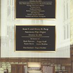 inside back cover - dedicatory plaques
